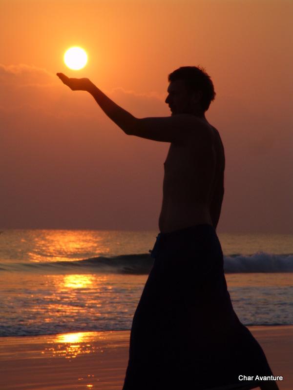 vecerna igra v goi je lovljenje sonca