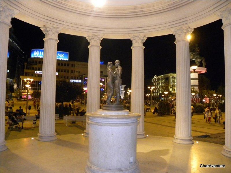 02.Skopje glavni trg plostad Makedonija